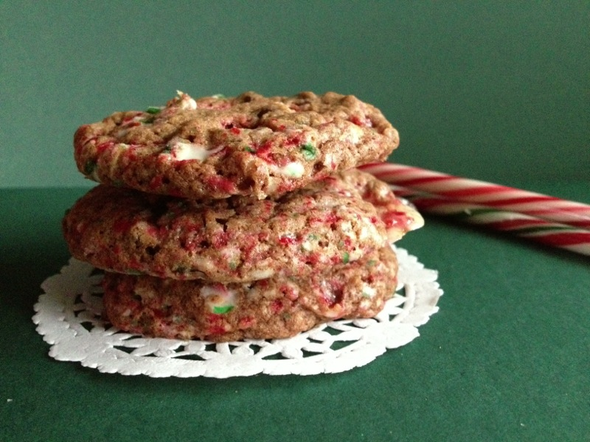 Cookies au chocolat et la canne de no l miam des biscuits - Canne de noel ...