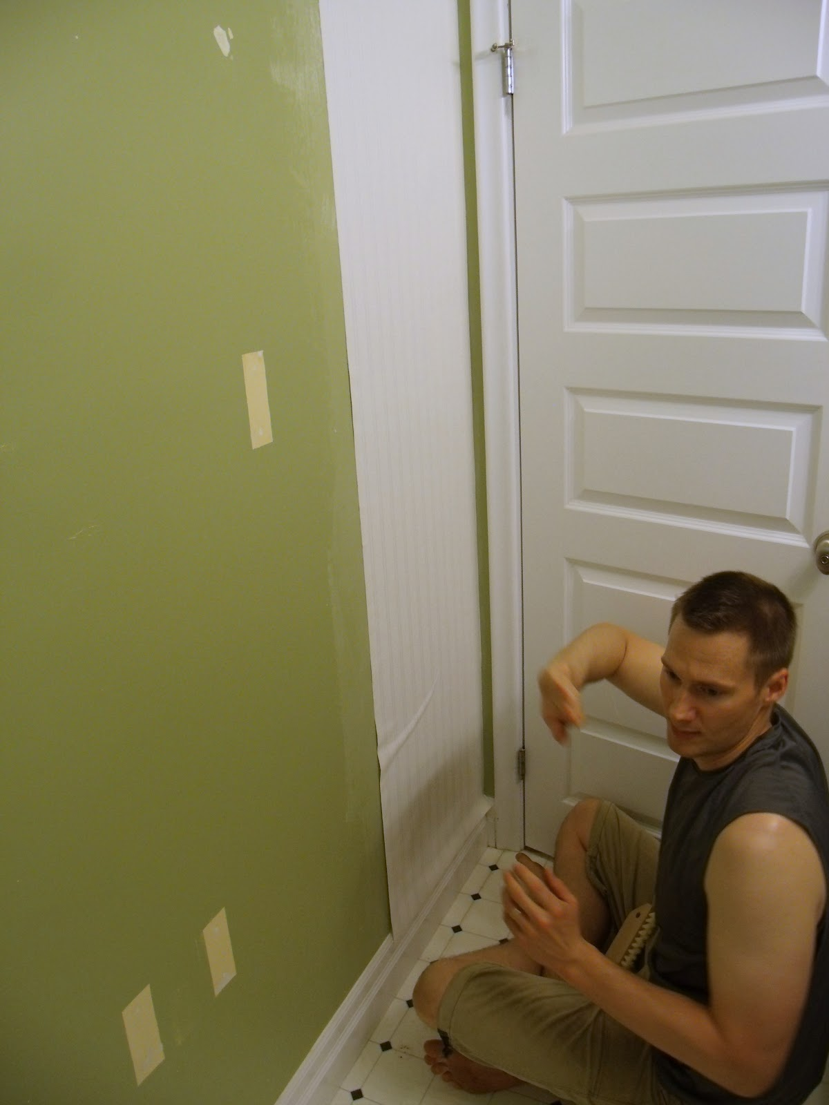 5  Get Hanging. How to Install Beadboard Paintable Wallpaper   Frugal Family Times