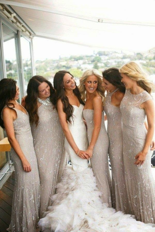 Memorable wedding gorgeous winter bridesmaid dresses for Winter wedding colors for bridesmaids dresses