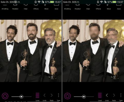 Point Blur app Android per nascondere volti e cose nelle foto