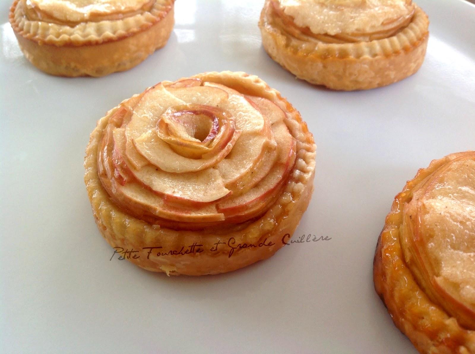 pâte feuilletée inversée tartelettes aux pommes à la fève Tonka
