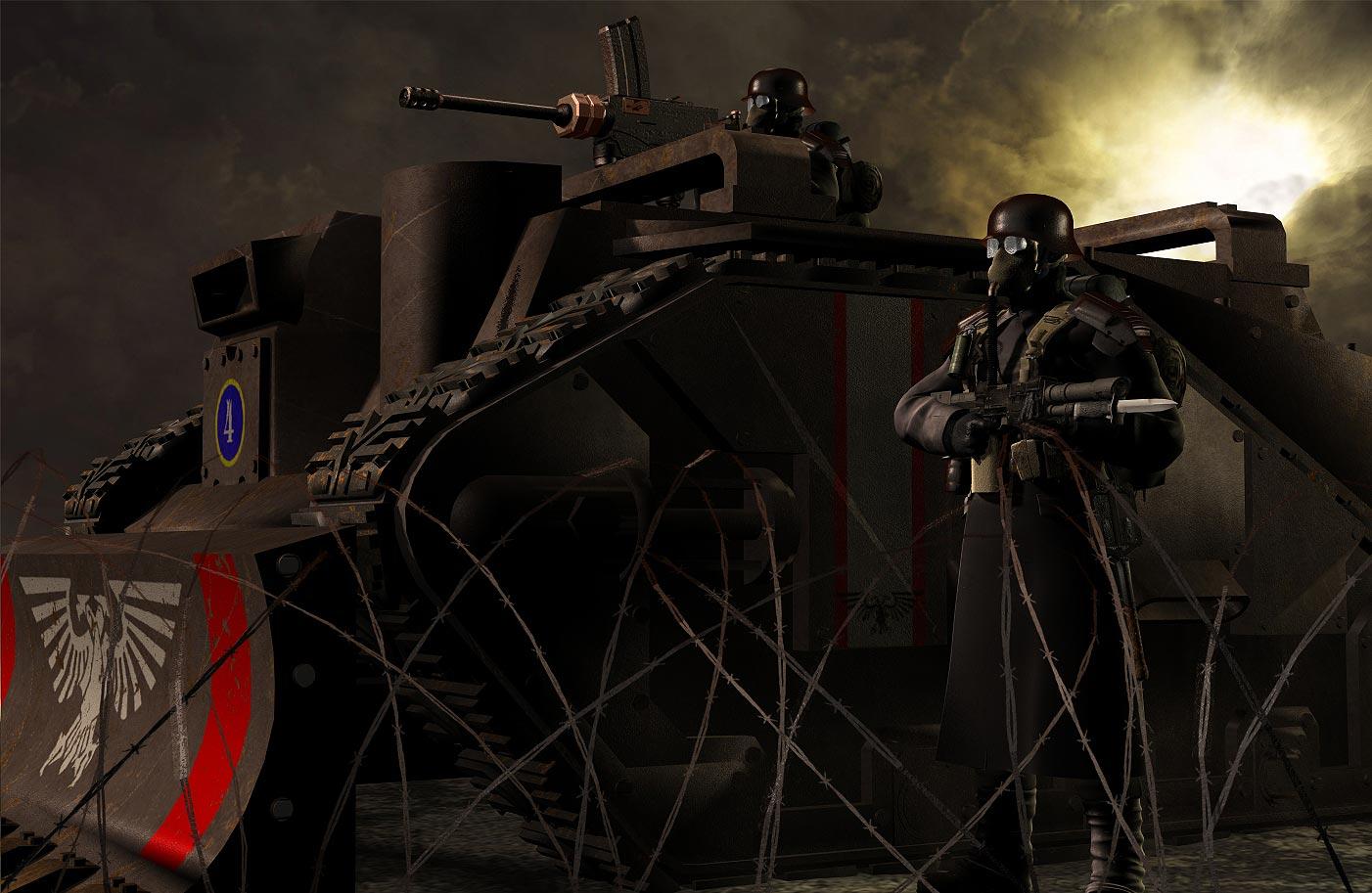 [W40K] Collection d'images : La Garde Impériale Death_Korp_of_Krieg_by_Howard_33