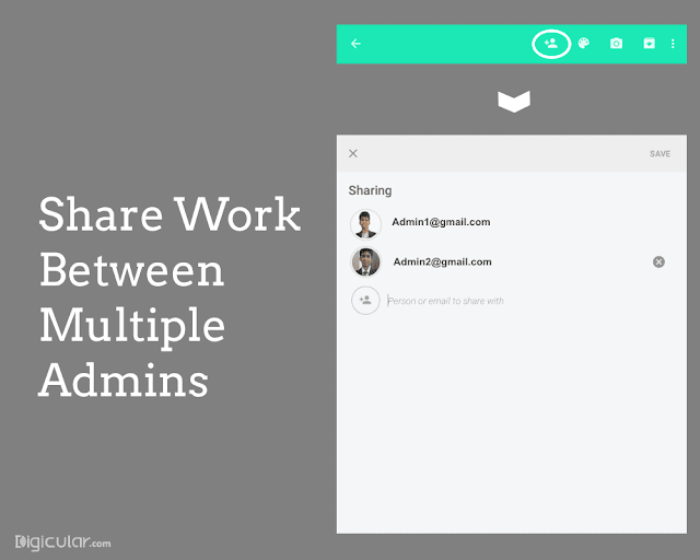 Share work - Google keep productivity tips