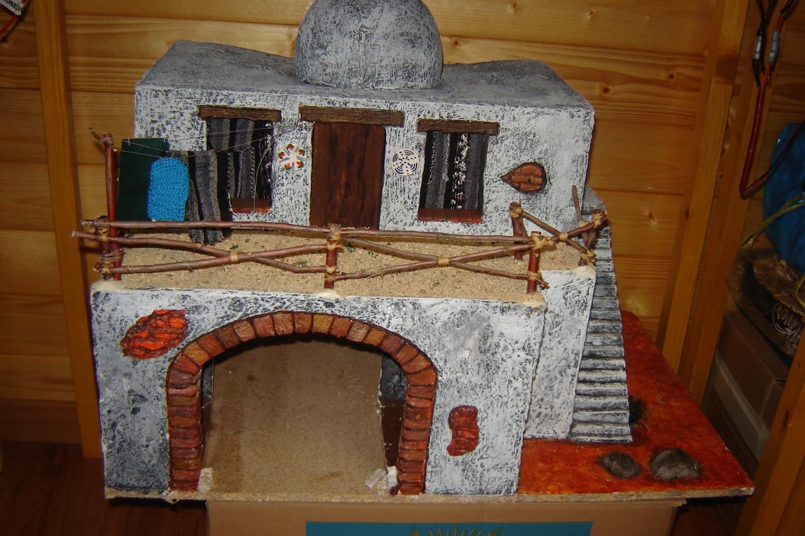 Belenes y complementos artesanos casa para figuras con for Complementos casa