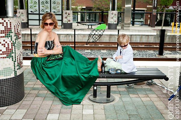 Charlotte Fashion Blog, Charlotte Train Station, Donna Jernigan Photography, Gap 1969 Favorite Denim Jacket, Green Ball Skirt, Jewelmint hair comb, Melvin Jewelry, Southern Style Blog, the Queen City Style,