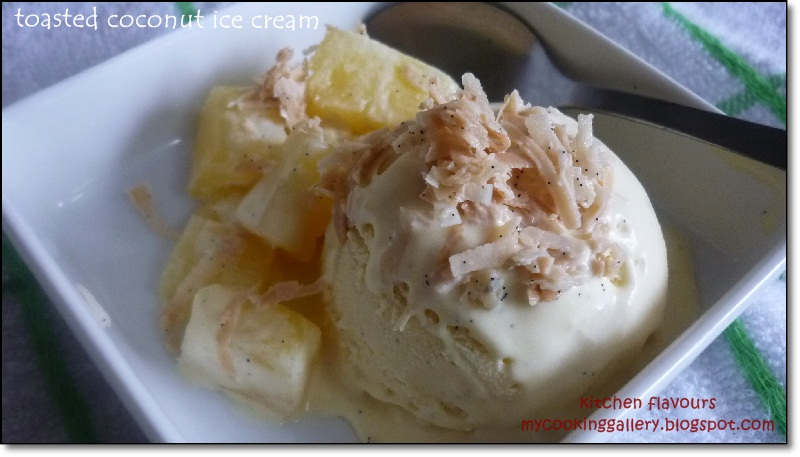 kitchen flavours: Toasted Coconut Ice Cream