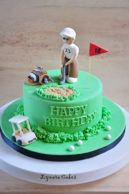 Golf Themed Wedding Cakes