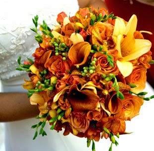 Ramos y Bouquets de Novia Naranja, parte 5