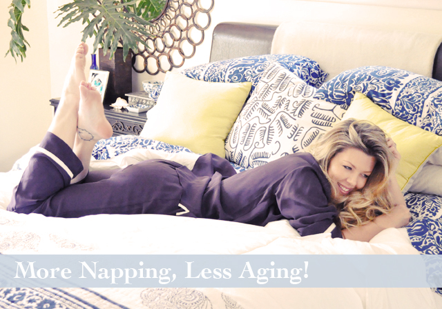 more napping less aging, benefits of sleep and beauty