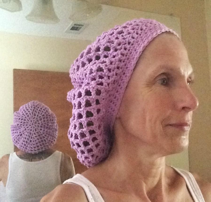 Crochet Lacy Hair Net Snood | Not My Nana\'s Crochet!