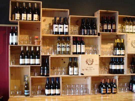 Wine Crate Display