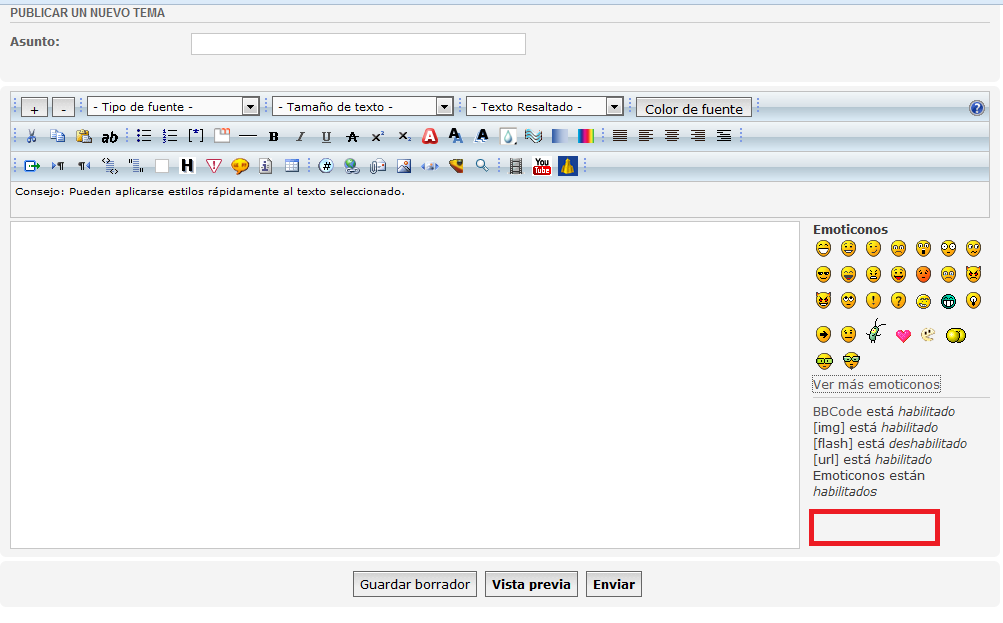 Agregar boton en Publicar nuevo tema - phpBB España Oficial