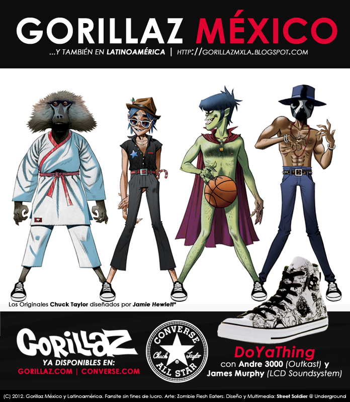 Gorillaz México y Latinoamérica