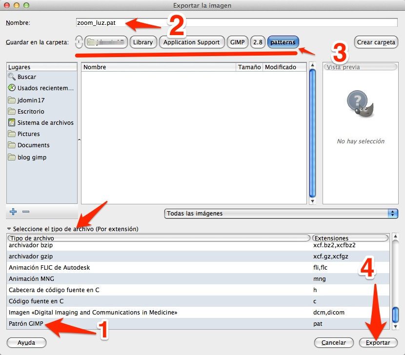 Usa GIMP: Creación y edición de patrones