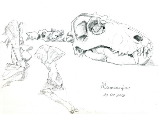 набросок динозавра. бывшего.