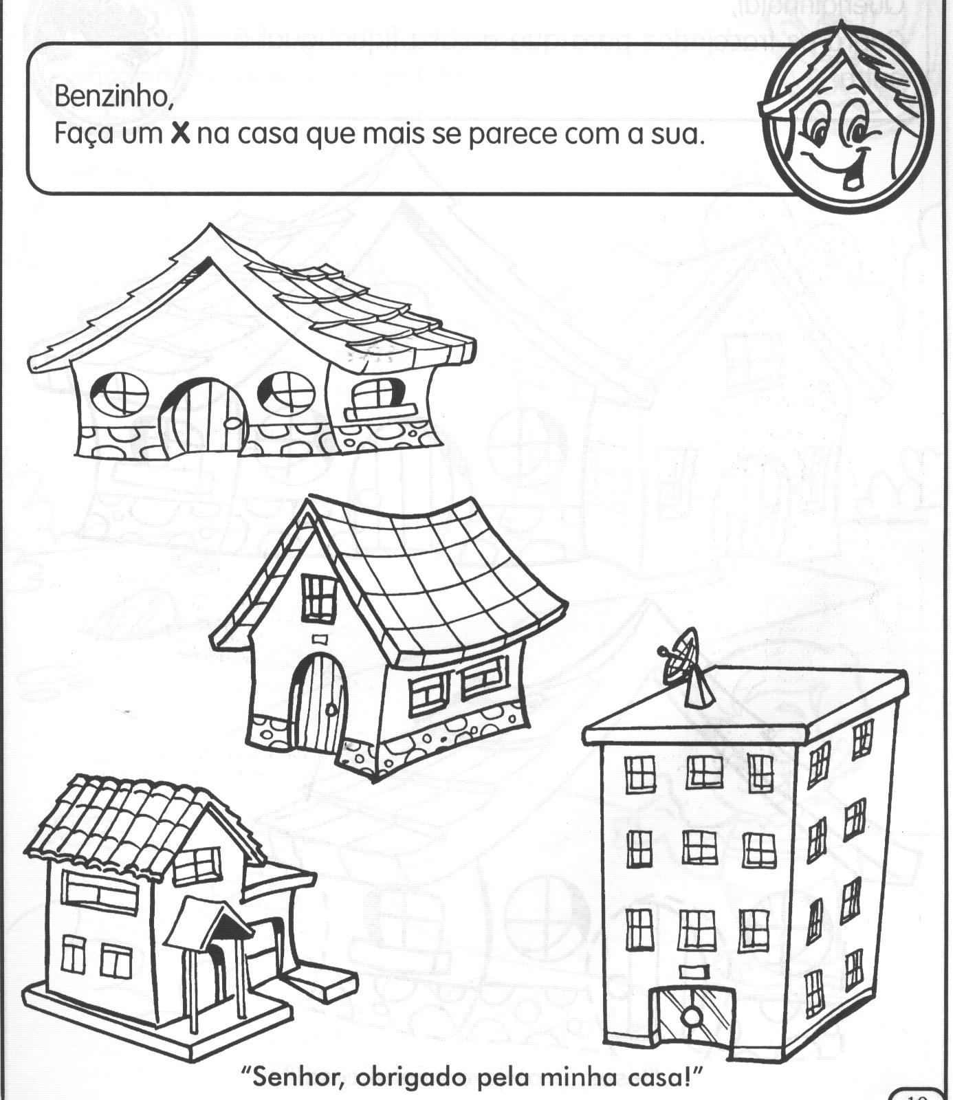 moradia, atividade de geografia, modelo de atividade, casa para montar