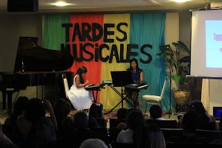 Daniela durante el recital