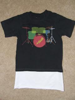 Refashion a boy's t-shirt into girl's dress