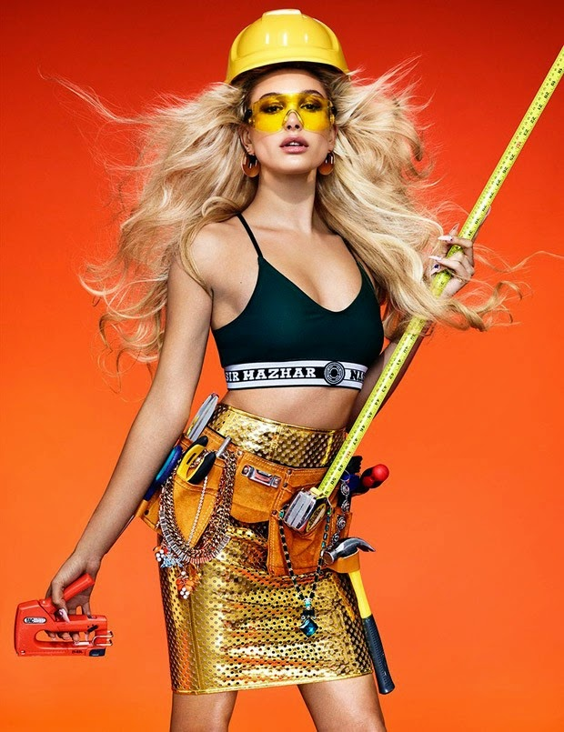 Hailey Baldwin lands the Wonderland Spring 2015 cover story