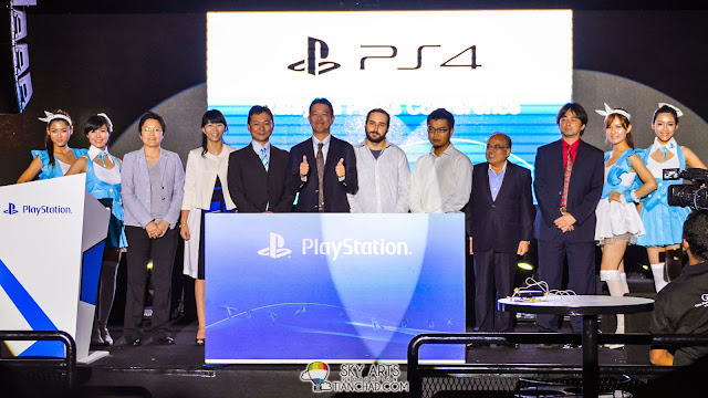 A group photos of all the VIP from Sony and speakers during Sony PlayStation 4 Launch