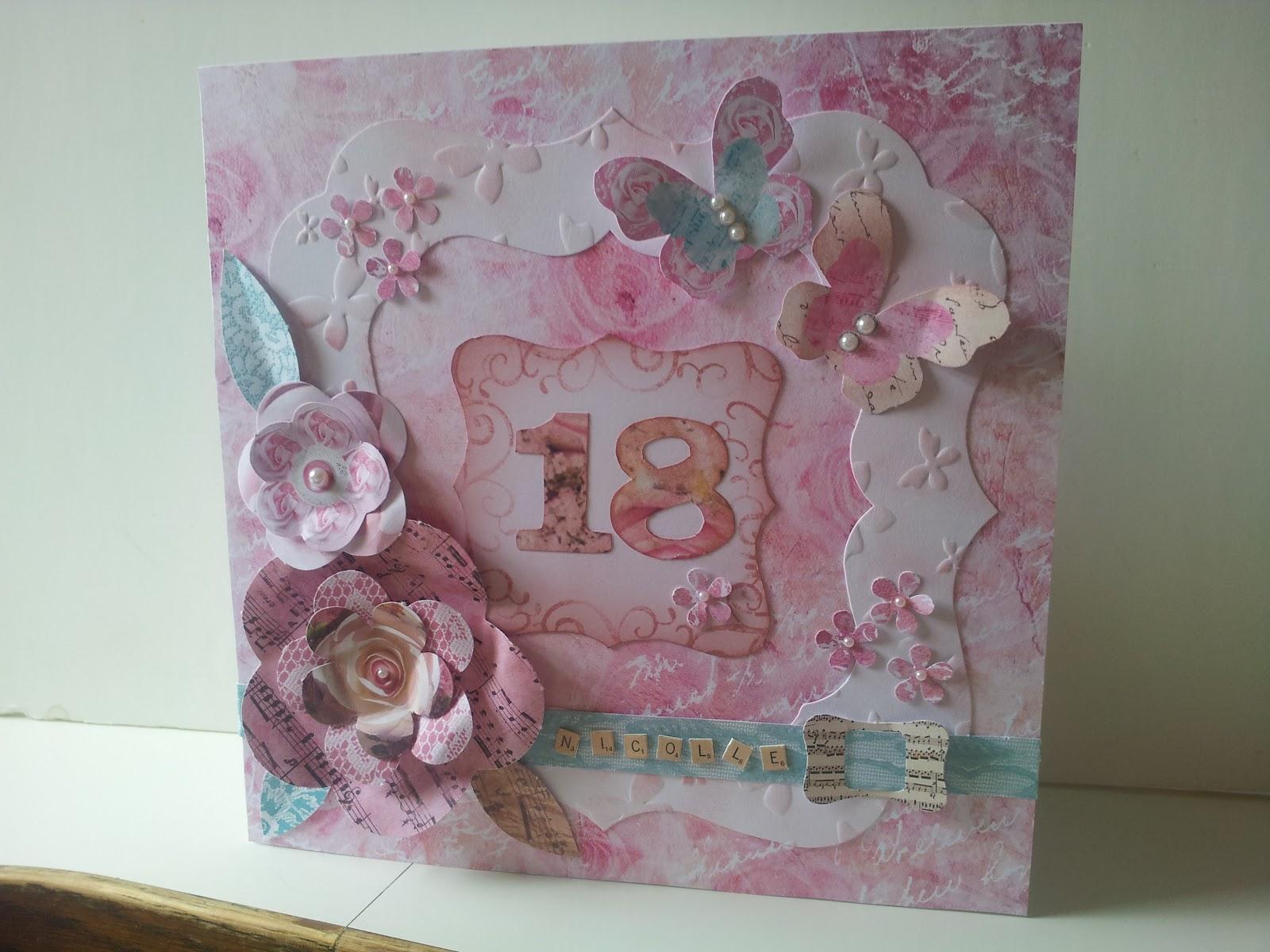 Sues Card Craft: 18th birthday card