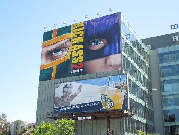 Giant KickAss 2 movie billboard