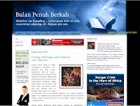 Ramadhan Bulan Berkah, free Islamic Blogger template