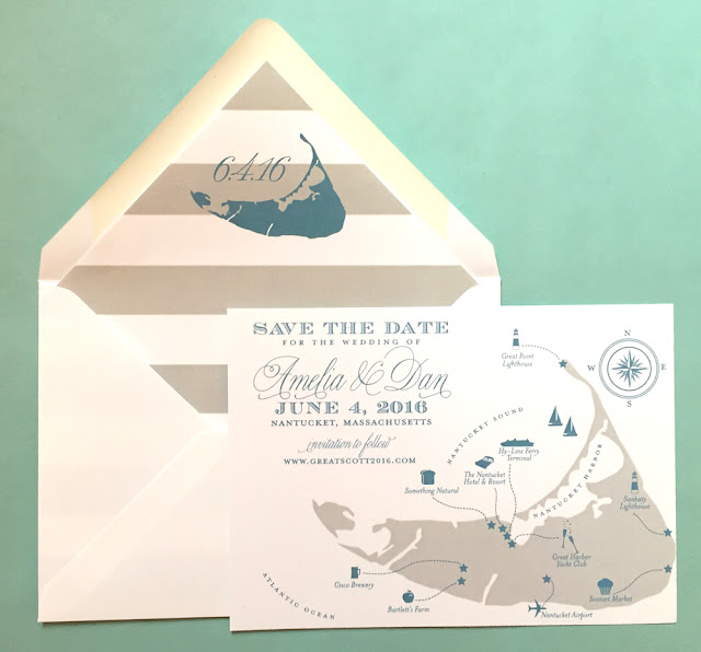 Map of Nantucket Save the Date