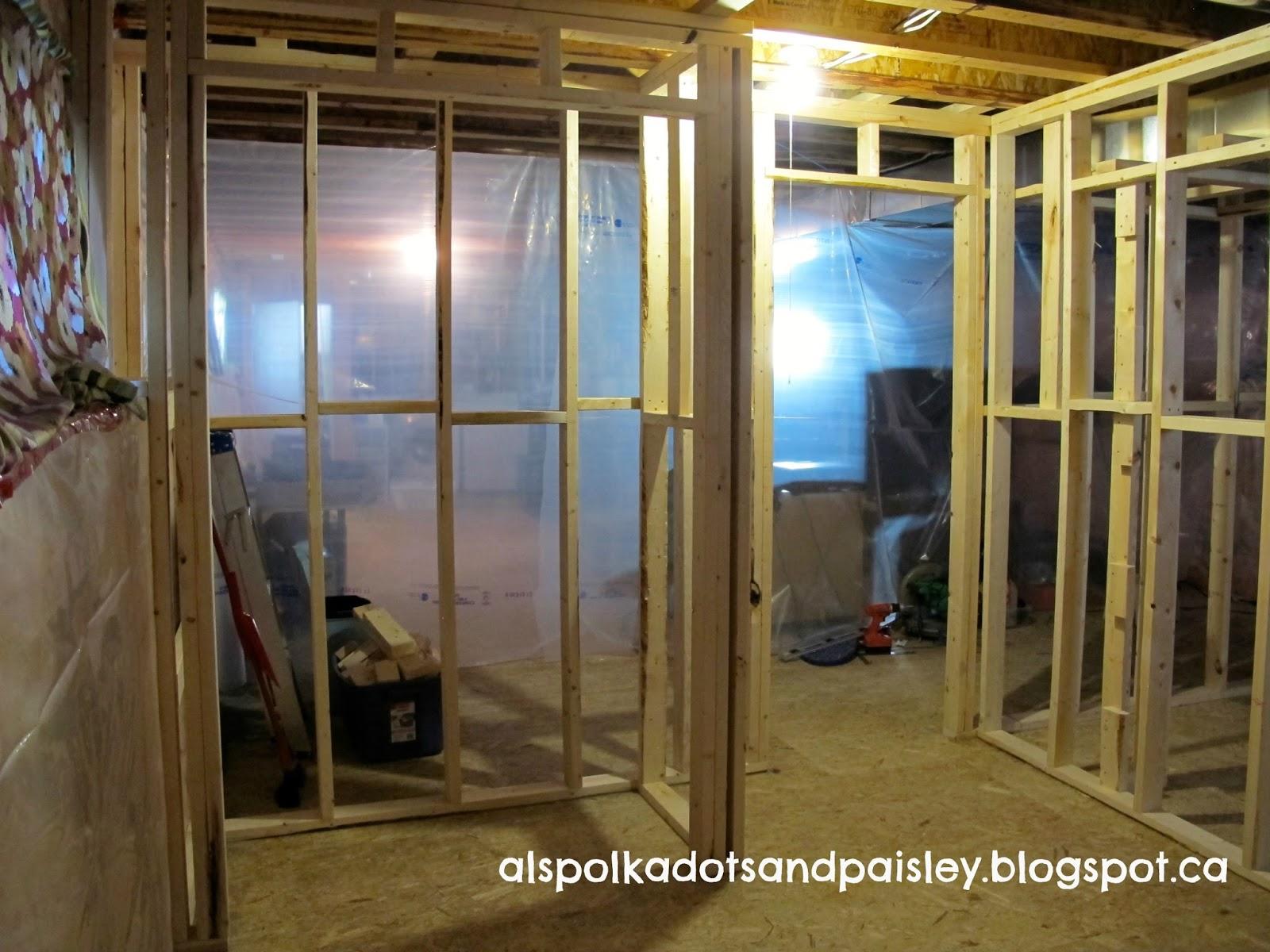 polka dots and paisley finishing the basement part 1