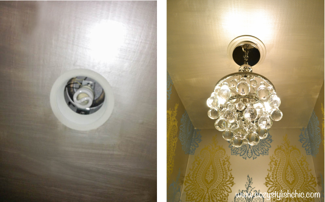 convert recessed lighting into a pendant light by using a. Black Bedroom Furniture Sets. Home Design Ideas
