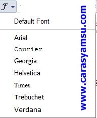 Jenis Font Blogger