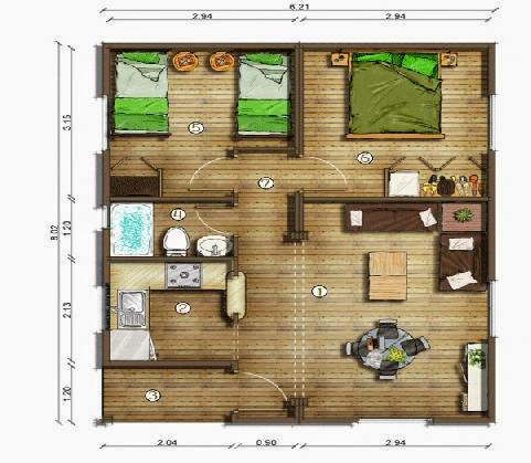 Planos de casas planos de casas terreras Casas modernas 80 metros cuadrados