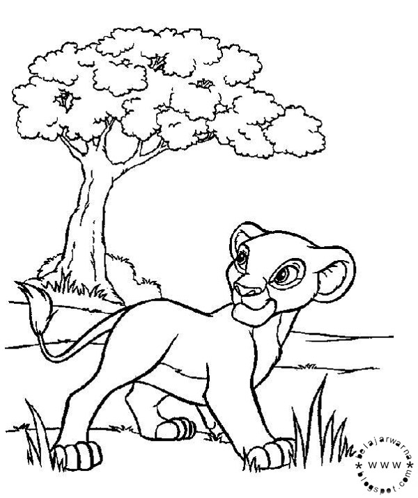 Lion King Coloring Pages Printable Free