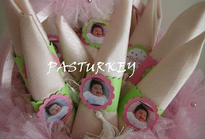 Pasturkey kelebek temali kiz bebek mevl zasyonu