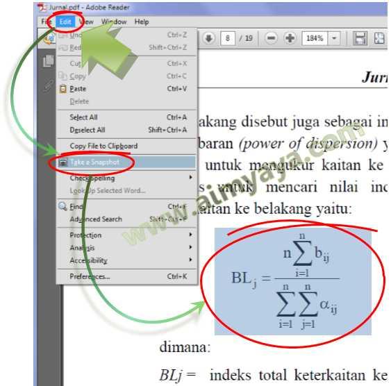 Gambar: Mengambil rumus dari file jurnal/referensi PDF