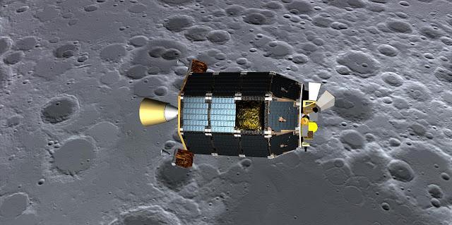 Artist's impression of LADEE spacecraft. Credit: NASA