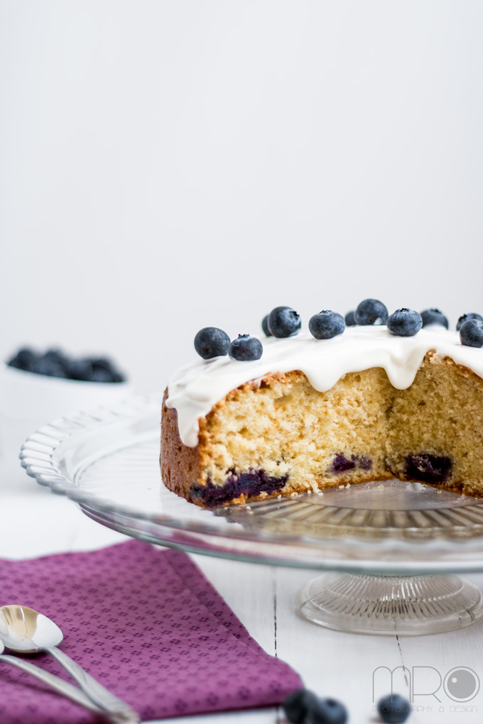 pastel arándanos cocinando espero