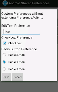 Android custom Preferences without extending PreferenceActivity