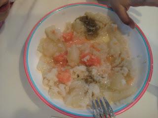 Cena hervido de patata y verdura