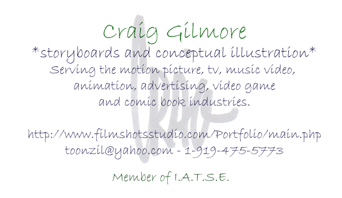 Craig Gilmore - *Storyboarding and concept illustration studio*