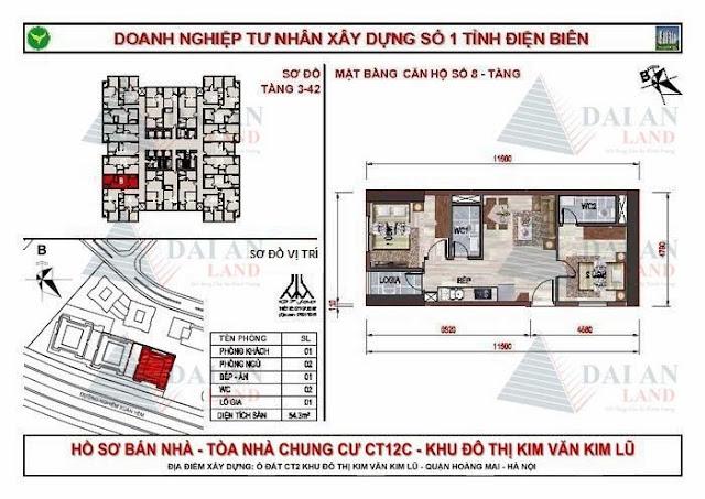 Căn 08 - Chung Cư Kim Văn Kim Lũ CT12C