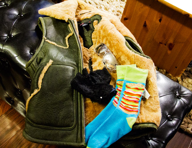Diesel Moscow boy sheerling vest, sheerling vest, lace half gloves from forever21, burger socks from urban outfitters
