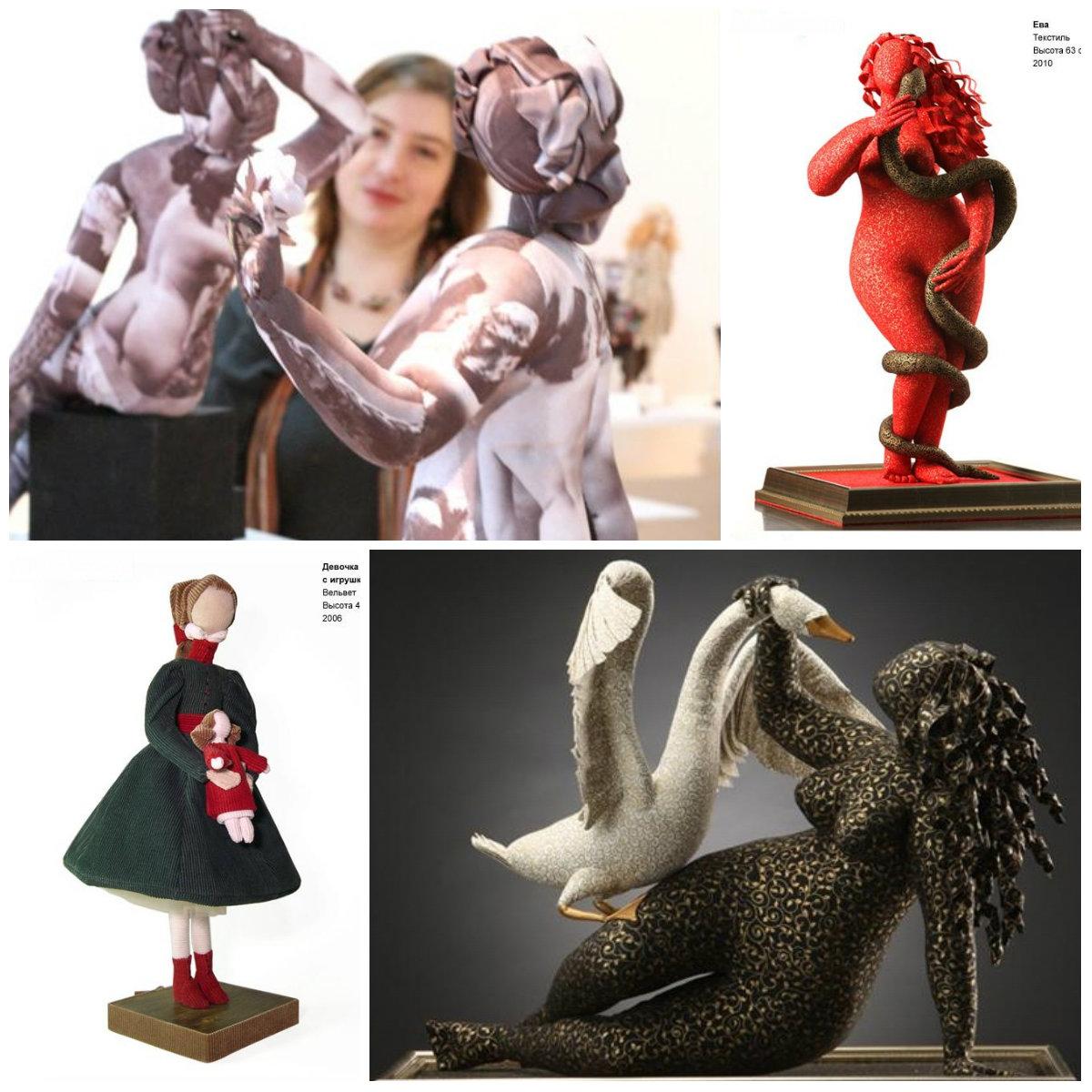 Natalia Velchinskaya текстильная скульптура