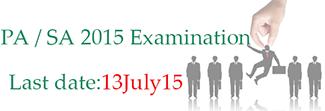 PA / SA Exam 2015