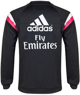 Sweater Training GO Real Madrid Hitam 2014 - 2015