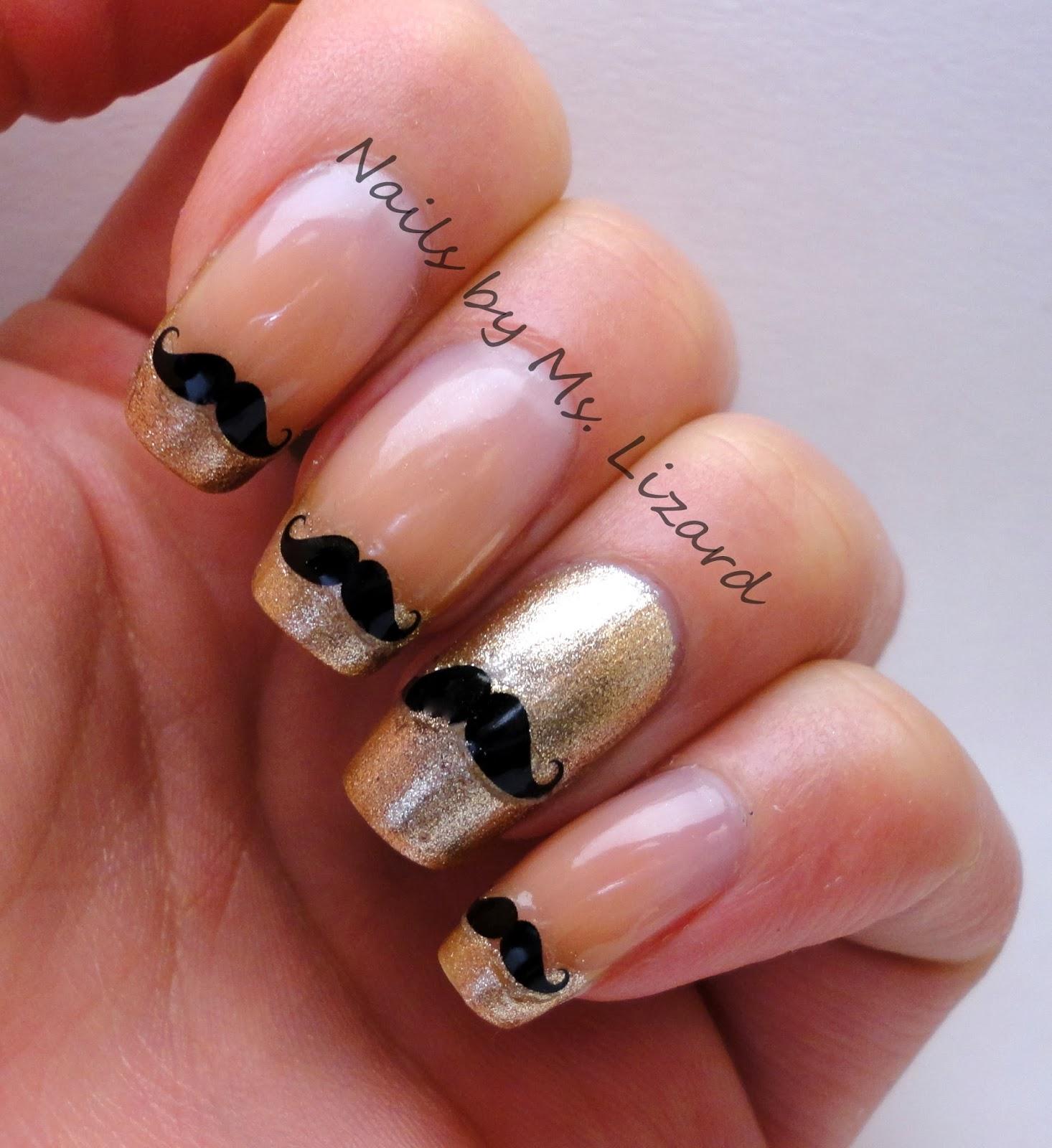 Nails by Ms. Lizard: Born Pretty Store: Black Mustache Nail Stickers ...