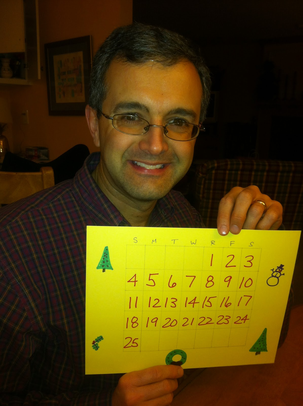 Cristina carlino family - Here S The Engineer S Perfectly Spaced Calendar Notice The Drawings My Favorite Is The Snowman