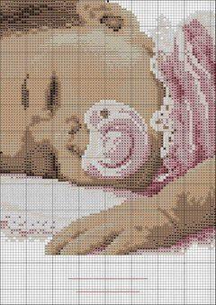 Encantos em ponto cruz beb s em ponto cruz - Punto a punto per i bambini di 3 anni ...