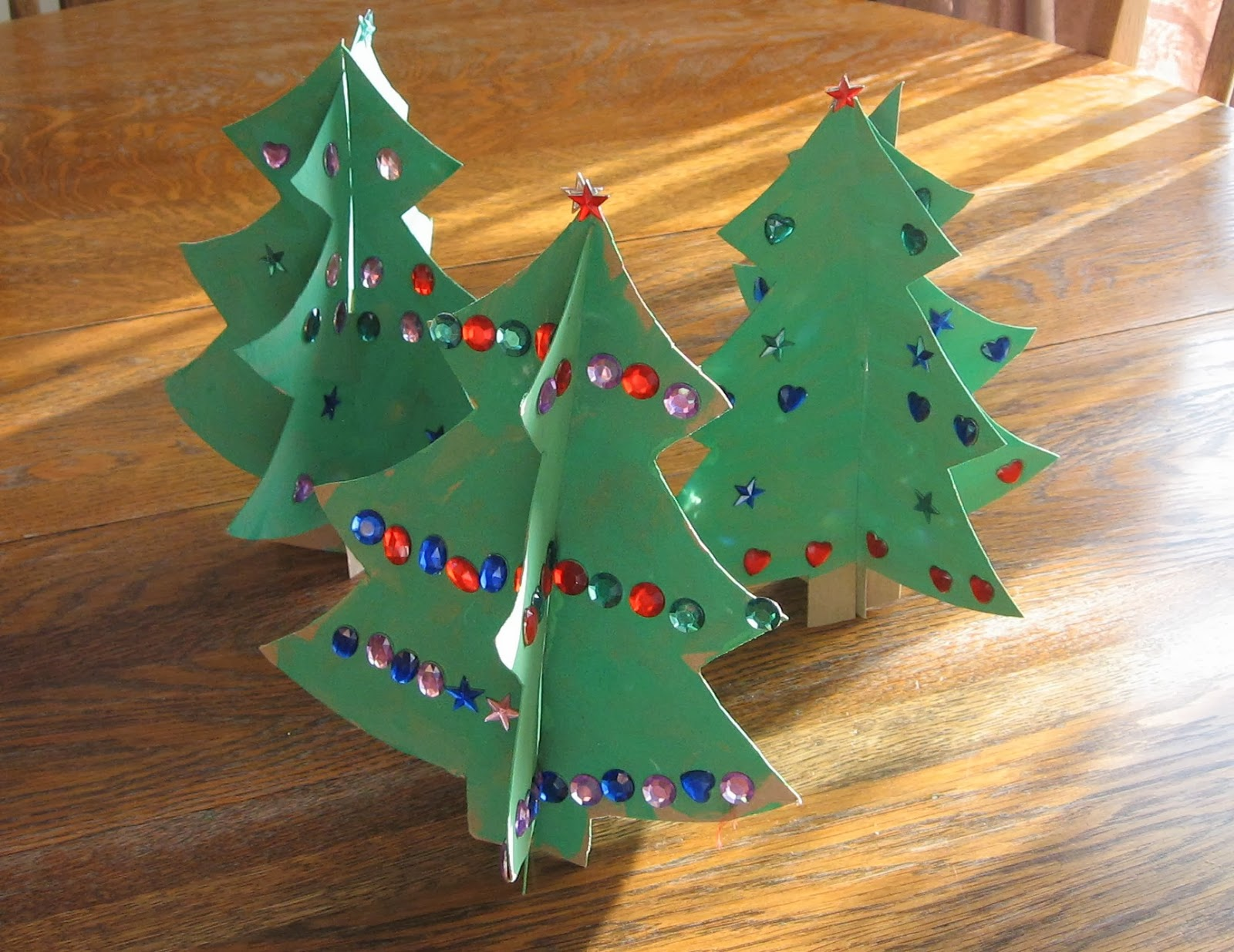 Almost Unschoolers Simple Christmas Craft 3d Cardboard