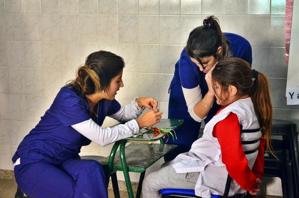 El programa de control oftalmológico visitó la escuela Vera Peñaloza